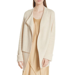 NEW Vince Drape Front Wool Cashmere Cardigan Sand